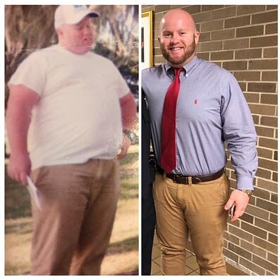 O2 Fitness Weight Loss Transformation Zach