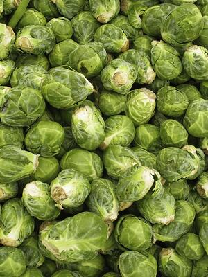 Brussels sprouts in abundance at farmers' market